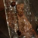 浅草 幻のあぐー豚専門肉バル グロワ グロワ - デザートはイチヂクのテリーヌ