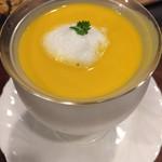 ステーキハウス 吉池 - 南瓜の冷製スープ