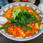 南ばん亭 - 料理写真:ニラ南ばん麺 入り850円+半ライス 100円