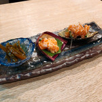 日本酒処 庵治都 - 珍味三種盛り