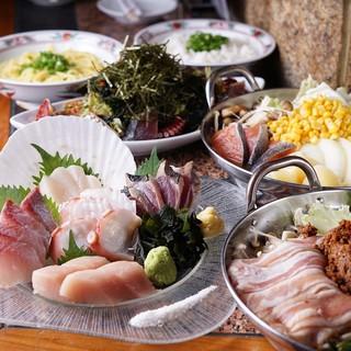 旬の鮮魚堪能・飲み放題付コース