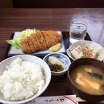 食堂 村上屋 - 料理写真:ロースカツ定食700円