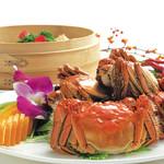 旬の味覚「上海蟹ミソ尽くし」ランチコース