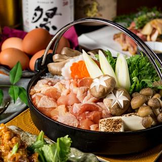 地鶏を贅沢に♪『名古屋コーチンのすき焼き鍋』コース3499円