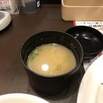 ガスト - スープバーを味噌汁に変更