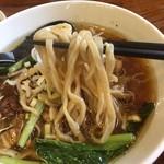 94868660 - 平打ち、中太、低加水の麺がスープに良く乗って旨い