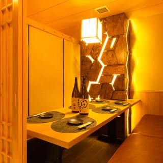●和の雰囲気●プライベート完全個室は2名様〜ご案内可能です!