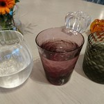 Sghr cafe - 公平に(笑)   ジャンケンで グラス を 決めました  一番   勝ったの 桜さん