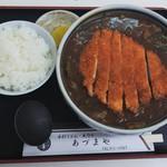 あづまや - カツカレーうどん小ご飯付き1,150円