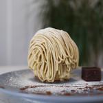トレイズ - 料理写真:九州産新栗とミルクジェラートのモンブラン☆