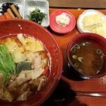 京都きん家 - 京湯葉とおぼろ豆腐のあんかけごはん(おぼろ豆腐がキレて無し)全景