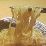 丸源ラーメン - 麺はこんな感じ