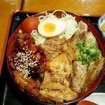 小塙 - 料理写真:全国丼グランプリ金賞 肉彩り丼