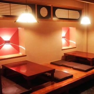 寛ぎの個室空間