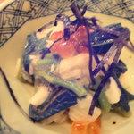 小石川 かとう - お通し(小松菜と大和芋)
