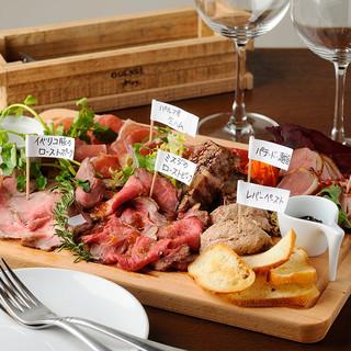 【ボリューム満点】肉前菜6種盛り合わせ!