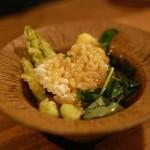 立ち呑みの さのや - 牡蠣の天ぷらとおこげのあんかけ