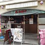 亀戸煮干中華蕎麦つきひ - 外観。ここに入って真っ直ぐ、一番奥にお店があります。