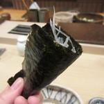 Sushitsubasa - 造りツマの手巻き、いぶりがっこを合わせてくれる