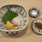 94897148 - 山口・萩(北浦)の赤海胆と鯛