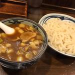 喜竹 - カレーつけうどん中、鴨肉トッピング