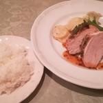 レストラン ジェファン - 信玄鳥のハーブソテー 粒マスタードソース