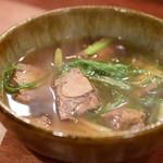 酒場シナトラ - 牛タンと九条葱の肉吸い@980円:初期状態