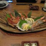赤坂時シラズ - 海老のお造り盛合せ