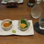 赤坂時シラズ - 雲丹 2種食べ比べ/寳劔