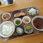 おおばやし食堂 - 「おふくろ定食 (630円)」