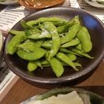 博多かわ屋 - 「枝豆 (390円)」
