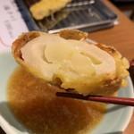 天ぷら酒場 by つか蕎麦 - ポテちく 断面アップ