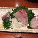 えぼし - 地魚三点盛り