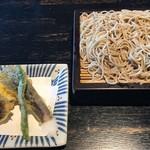 文楽 東蔵 - 天ぷらとそばです。