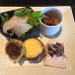 文楽 東蔵 - 彩り前菜セット(前菜4種)