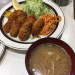 キッチンABC - カキフライ(7ケ)と豚汁('18/10/20)