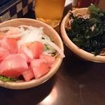 畑の厨 膳丸 - サラダばー、蕎麦