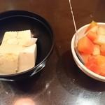 畑の厨 膳丸 - 冷奴、フルーツポンチ