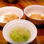 ローストホース - 馬肉のそぼろご飯とスープ