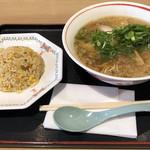 草津パーキングエリア(下り線)フードコート - 料理写真:京風ラーメンとミニチャーハンのセット 920円税込。