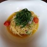 air cafe centralgarden  - ランチ 秋刀魚とネギのオイルパスタ