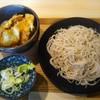 相模屋 そば店 - 料理写真:2番 とり天丼と冷たい十割そば(さらしな)