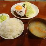 小古食堂 - ハンバーグライス(セット)1300円