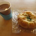 藪原宿にぎわい広場 笑ん館 - 料理写真:ココアと手作りパン