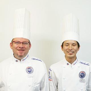 ◎三ツ星出身の二人。フランス人と日本人シェフの独創的なお料理