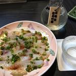 寿し処 喰道楽 - ふぐポン、出羽桜桜花吟醸