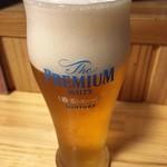 写楽 - 「生ビール」プレモル香るエール。500円也。