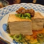 創作おでん よばれや - お豆腐には刻み奈良漬(*´▽`*)
