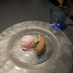 メリプリンチペッサ - ストロベリーアイスクリームとチョコレートのムース