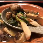 お料理 七草 - 松茸と鮑の小鍋立